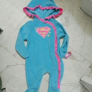 Baby girl superman onesie